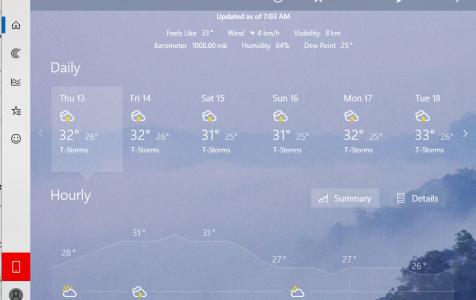 Windows 10 Weather App