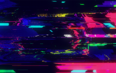 Digital Pixel Noise Glitch Error
