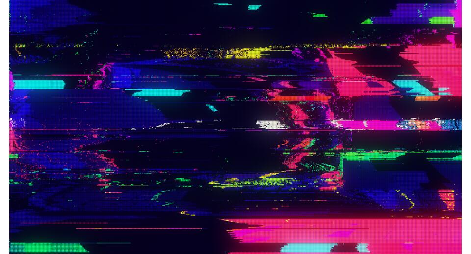 Digital Pixel Noise Glitch Error