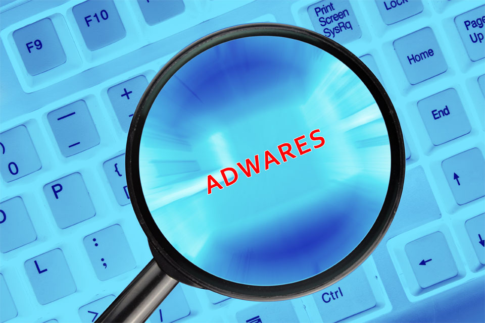 Magnifying Glass on Keyboard Adwares