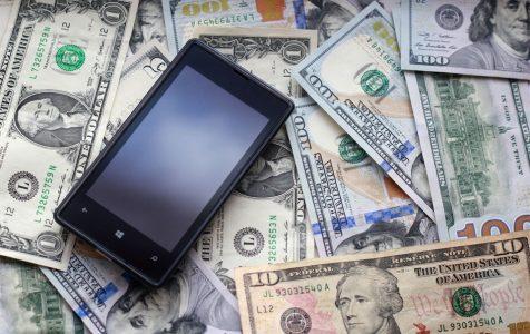 Mobile Phone Dollar Bank Notes