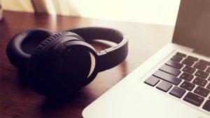 Black Headphone Laptop