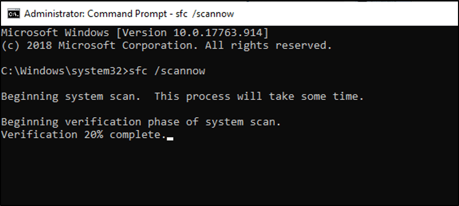 Command Prompt - scannow