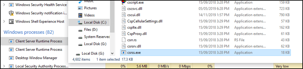 Client Server Runtime Process - CSRSS exe