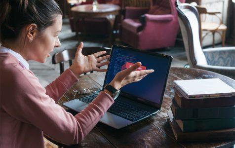 Girl Laptop Error