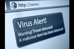 Virus Alert Sign Internet Browser