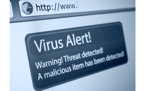 Virus Alert Sign Internet Browser