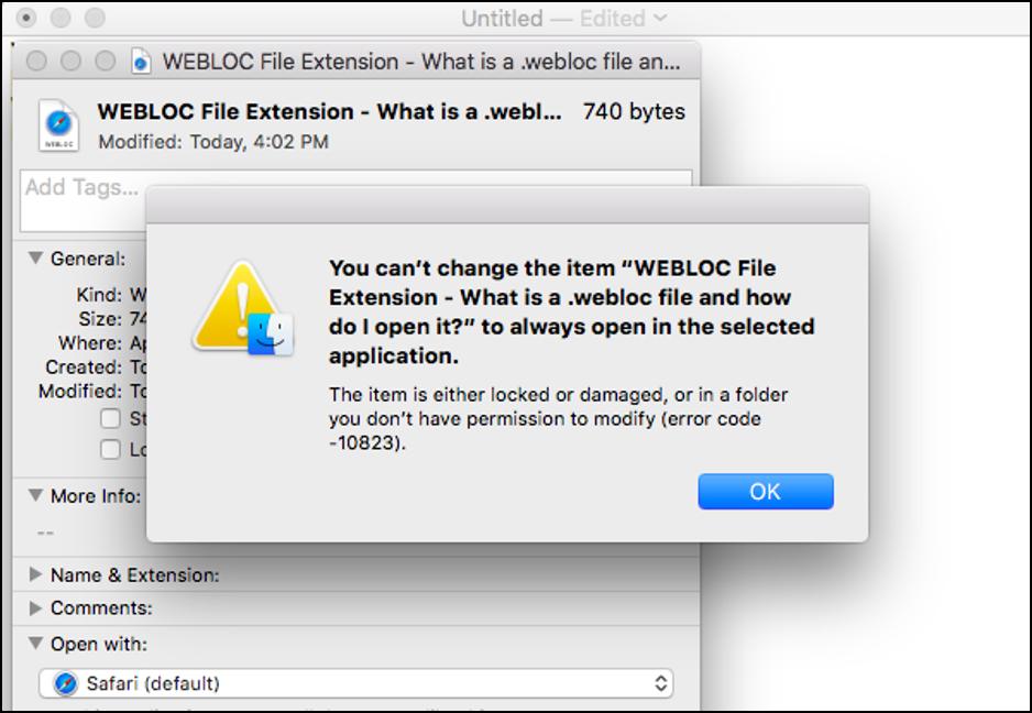 WEBLOC File Extension