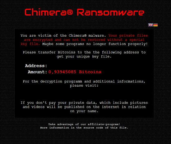 Chimera Ransomware