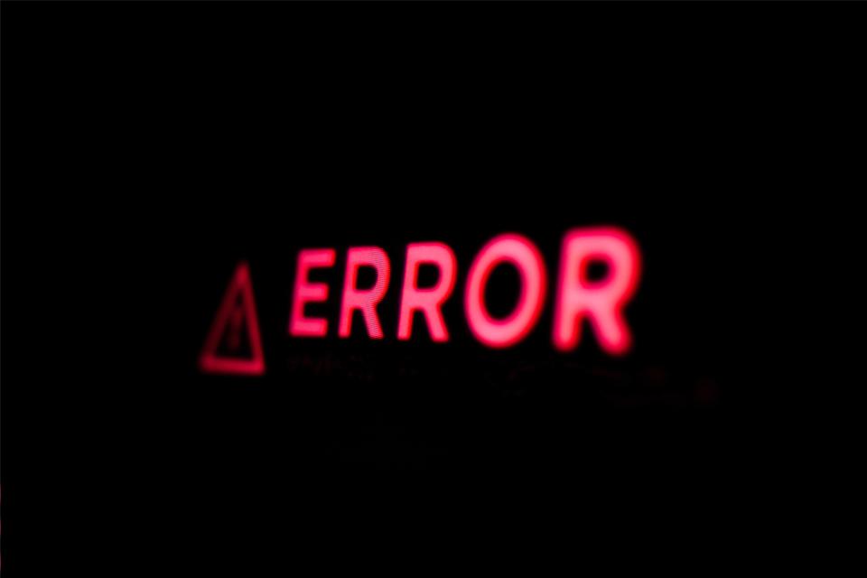 Computer Error Error Message