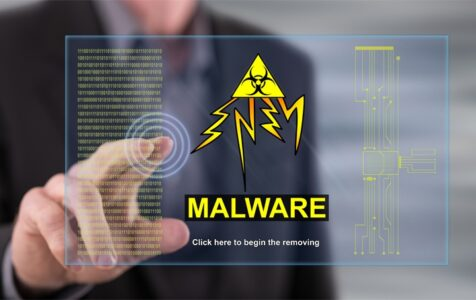Man Touching Malware