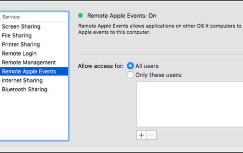 Remote Apple Events