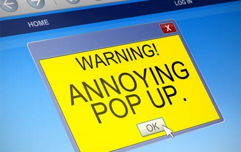 Warning Annoying Pop Up
