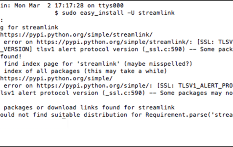 Streamlink on Mac