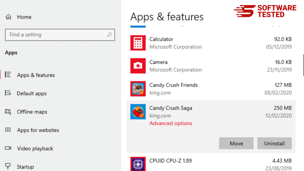 Apps and Features