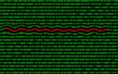 Binary Code Cyber Attack