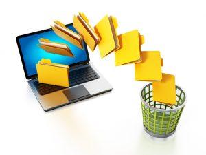 Folders Moving Trash Bin