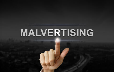 Hand Clicking Malvertising