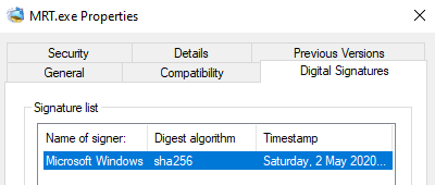 Microsoft Windows Properties