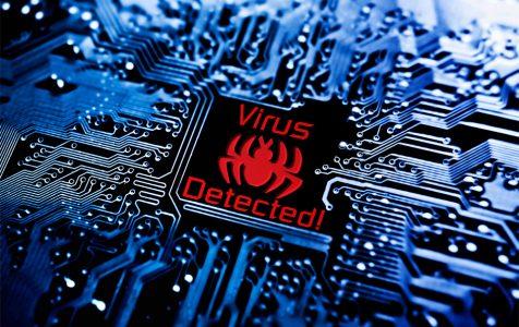 Virus On Circuit Board