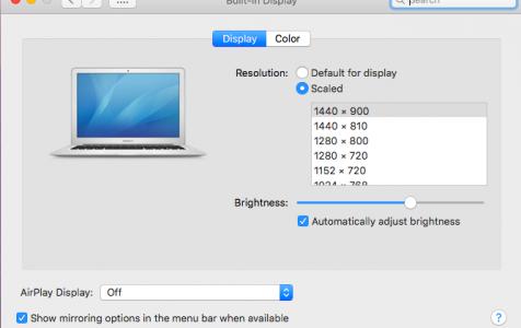 Mac Resolution