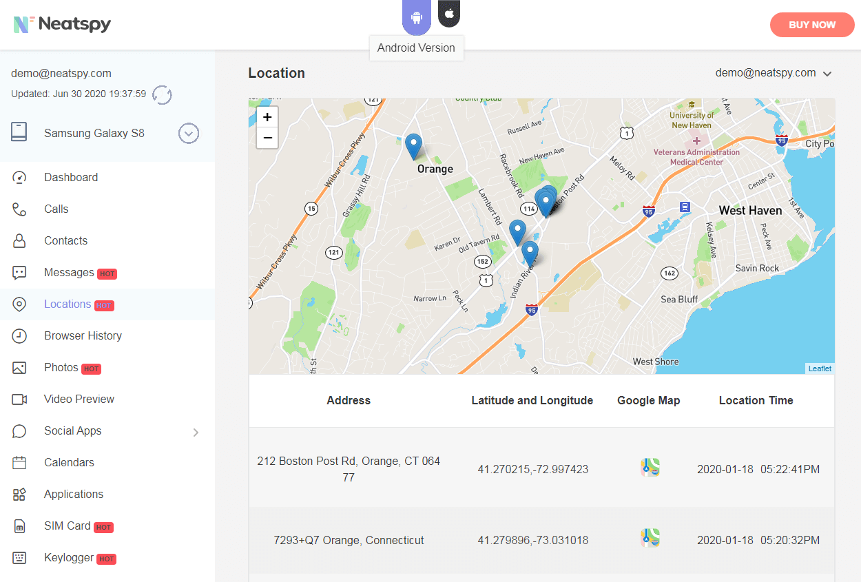 Netspy Track Cell Phone Location