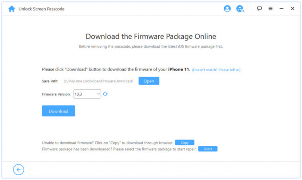 Download the Firmware Package Online