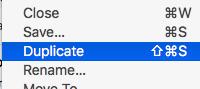 Duplicate the File