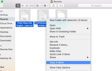 Copying Files on Mac