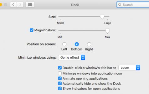 Dock on Mac