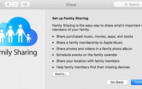 Family Sharing Account on Mac