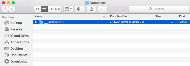 IndexedDB file