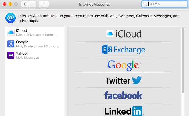Internet Accounts