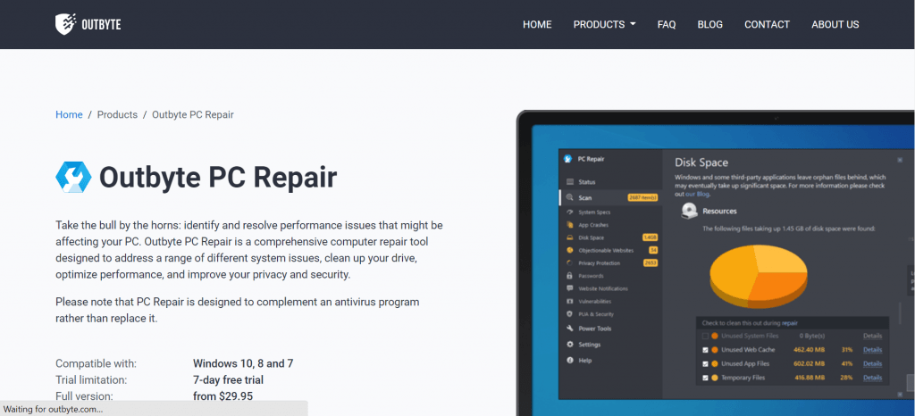 Outbyte PC Repair tool