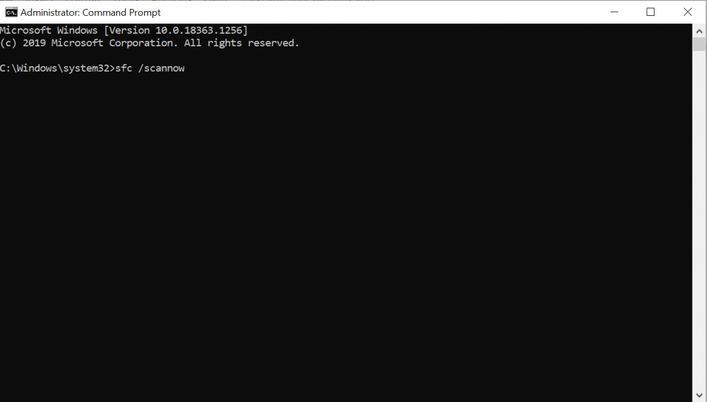 SFC - scannow Command Prompt