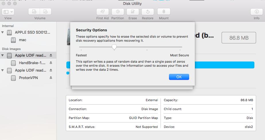 Disk Utility - External Drive