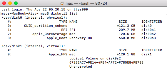 Erase your Disk via Terminal