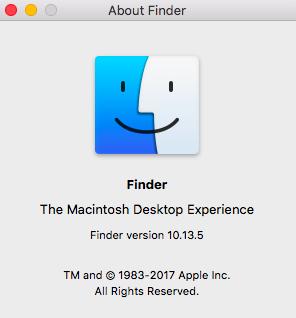 Finder Application on Macbook
