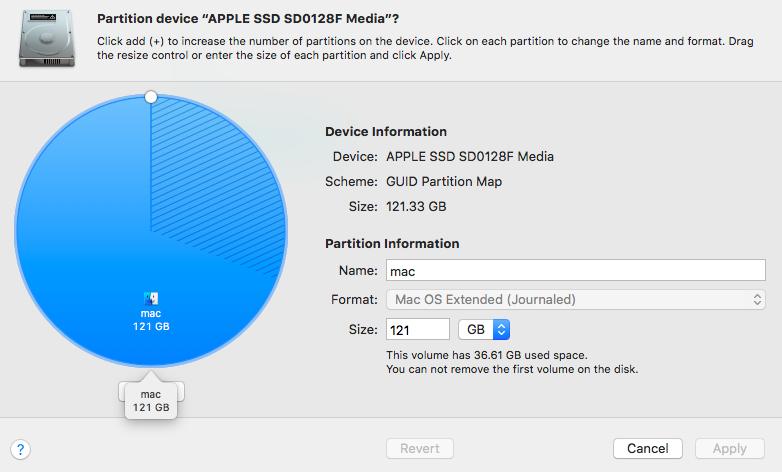 Mac Partition Device