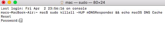 Mac sudo terminal command