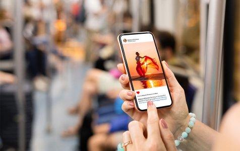 Mobile Phone wirh Instagram