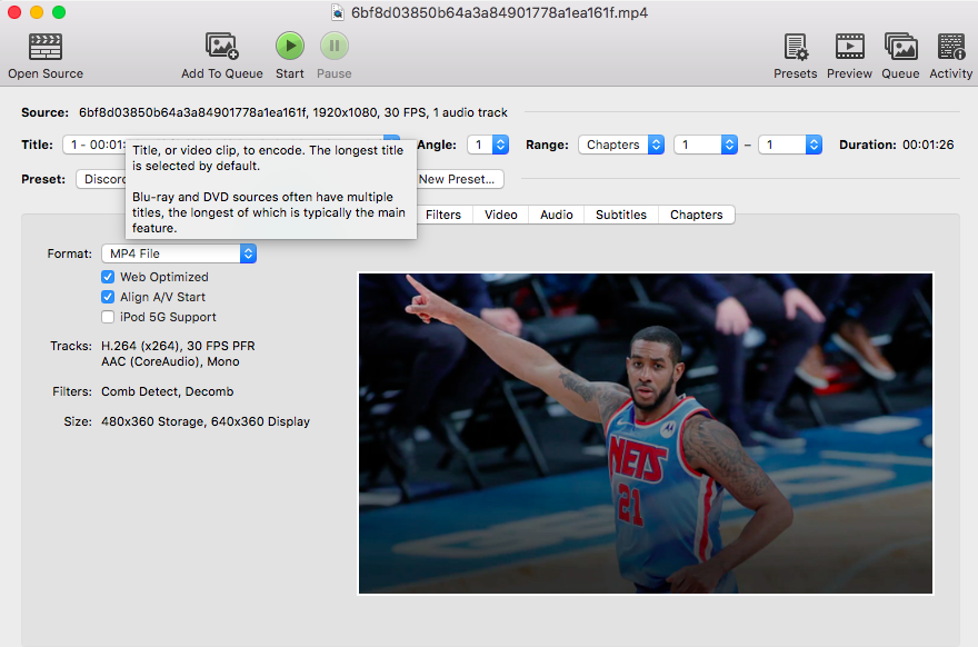 QuickTime video player