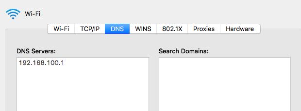 Wi-Fi DNS settings
