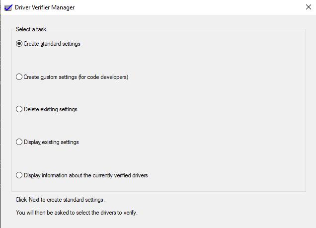 Driver Verifier Manager