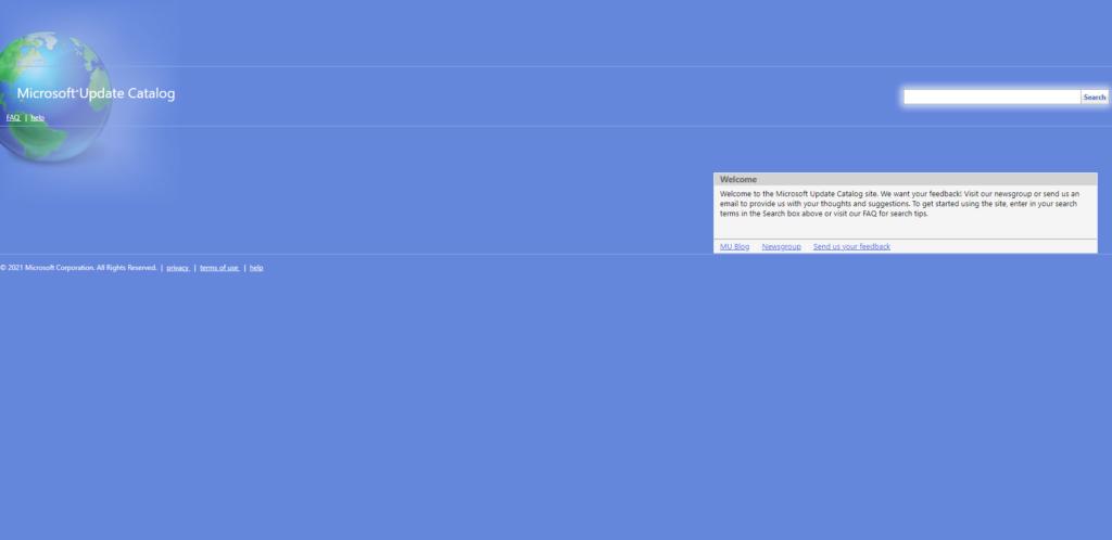 Windows Update Catalog