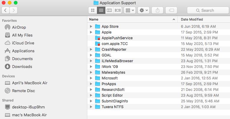 Application Support - Mac