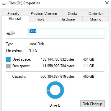 Files Properties