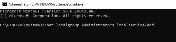 cmd - localgroup administrators
