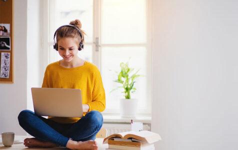 College Student with Headphones