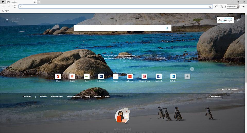 Microsoft Edge - New Tab